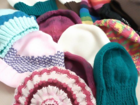 Knitted Hats / Hulme Winter festival