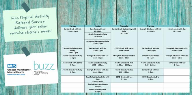 Buzz PARS timetable