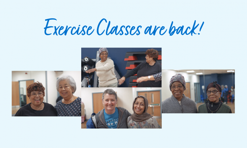 Exercise Classes are back!