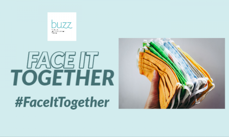 buzz launches #FaceItTogether campaign to get Manchester sewing face coverings!