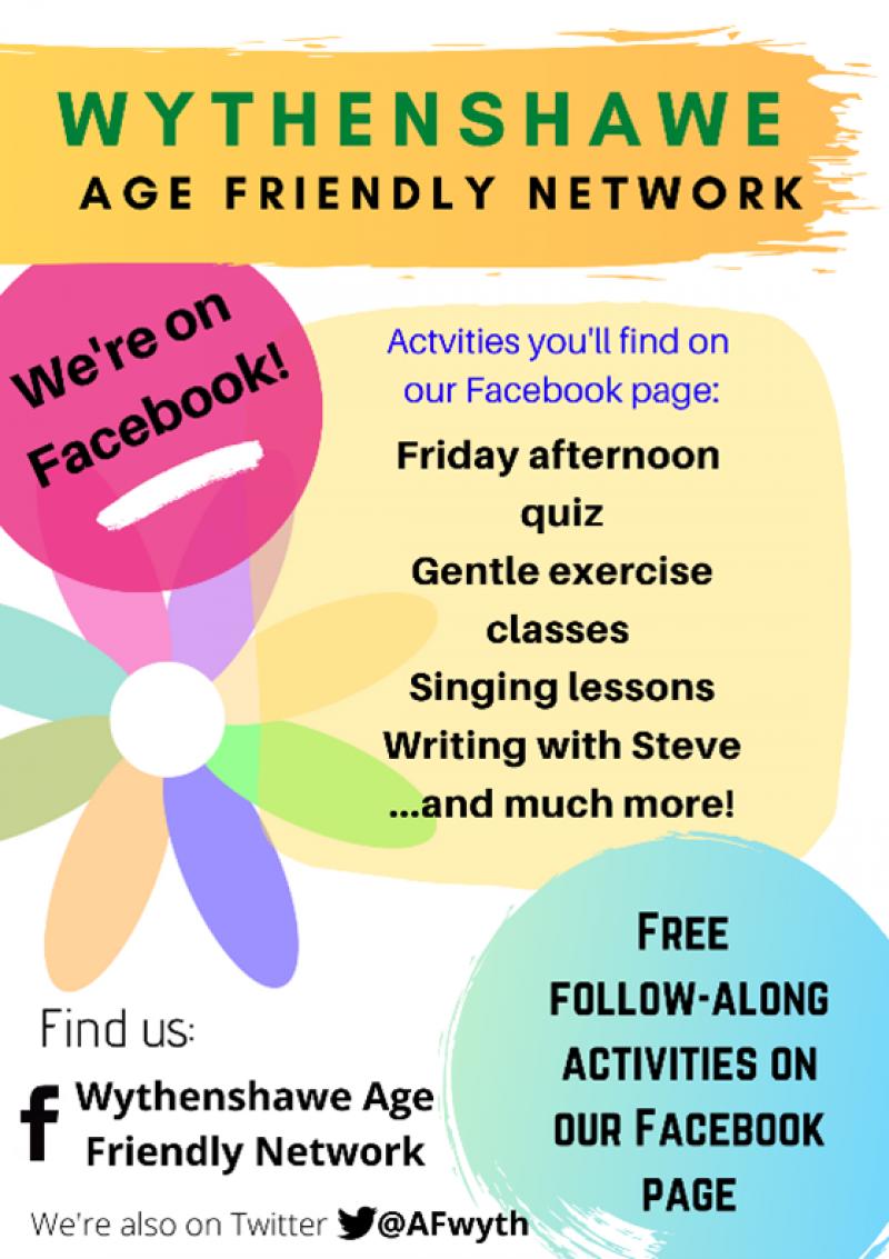 Wythenshawe Age Friendly Facebook page