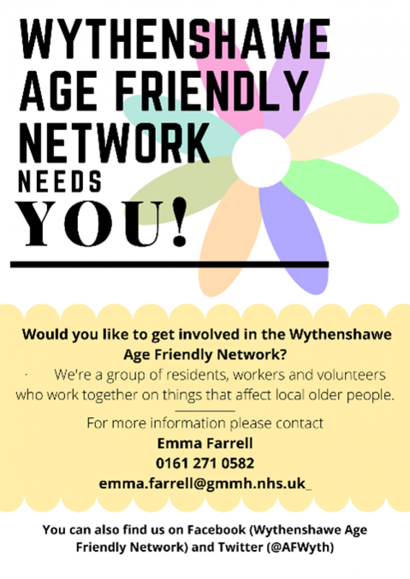 Age Friendly Wythenshawe – resident recruitment and promotion