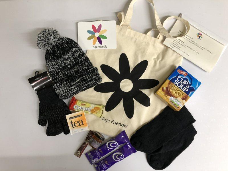 Wythenshawe Age Friendly Winter Warmer bags